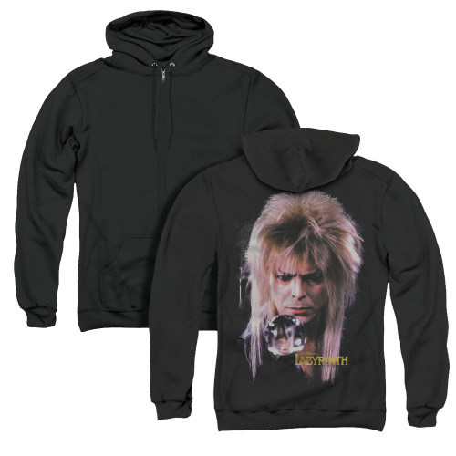 Image for Labyrinth Zip Up Back Print Hoodie - Goblin King