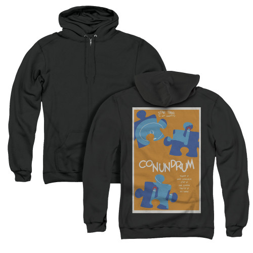 Image for Star Trek the Next Generation Juan Ortiz Episode Poster Zip Up Back Print Hoodie - Season 5 Ep. 14 Conundrum on Black