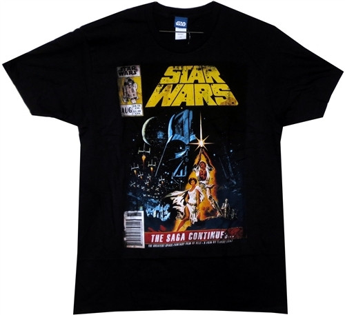Image for Star Wars T-Shirt - the Saga Continues