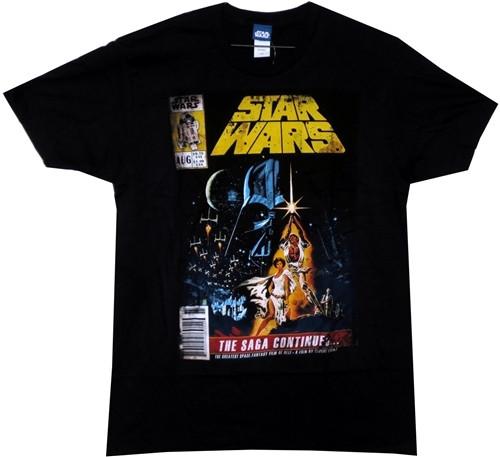 Image for Star Wars T-Shirt - the Saga Continues