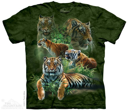 Image for The Mountain T-Shirt - Jungle Tigers Collage