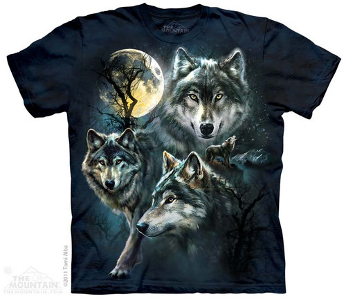 Image for The Mountain T-Shirt - Moon Wolves Collages