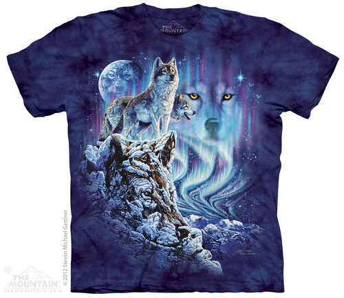 Image for The Mountain T-Shirt - Find 10 Wolves