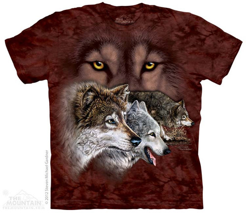 Image for The Mountain T-Shirt - Find 9 Wolves