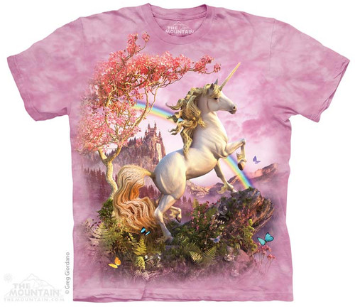 Image for The Mountain T-Shirt - Awesome Unicorn
