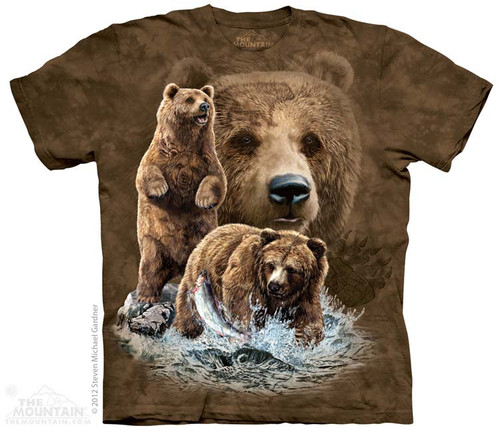 Image for The Mountain T-Shirt - Find 10 Brown Bears