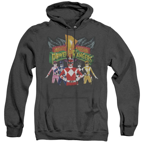 Image for Power Rangers Heather Hoodie - Rangers Unite
