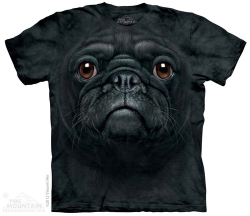 Image for The Mountain T-Shirt - Black Pug Face