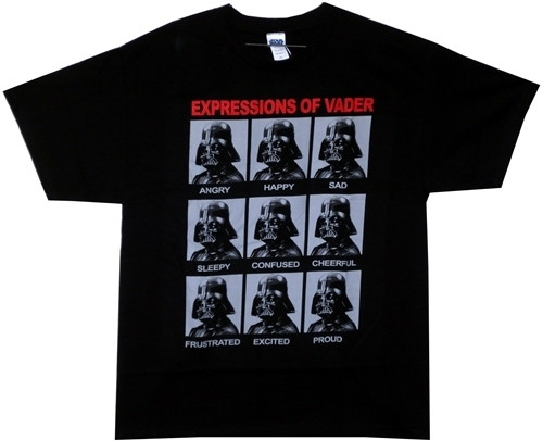 image for Star Wars T-Shirt - Expressions of Vader