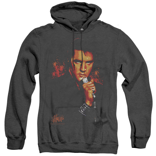 Image for Elvis Heather Hoodie - More Trouble