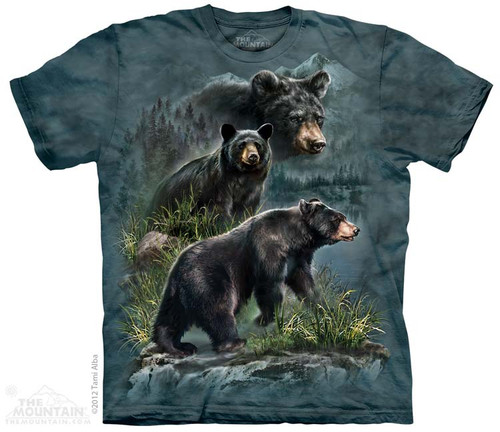 Image for The Mountain T-Shirt - Three Black Bears