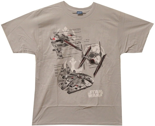 Image for Star Wars T-Shirt - Ships Diagrams