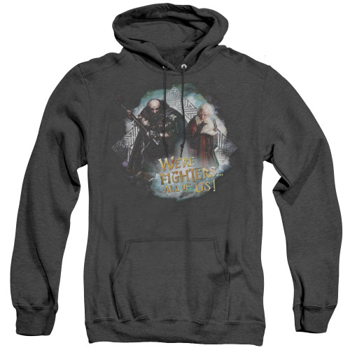 Image for The Hobbit Heather Hoodie - We're Fighters