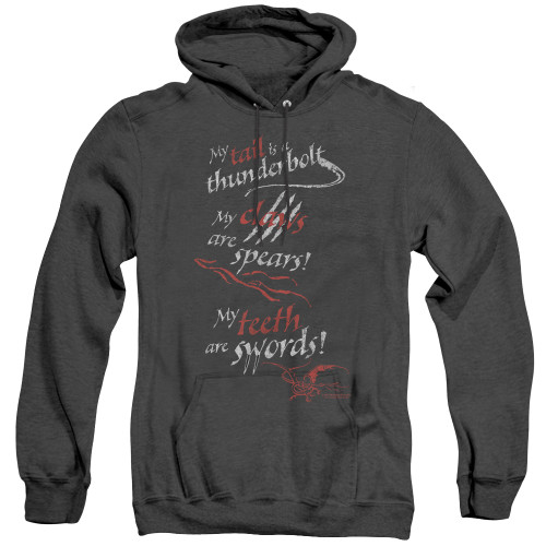 Image for The Hobbit Heather Hoodie - Tail Claws Teeth