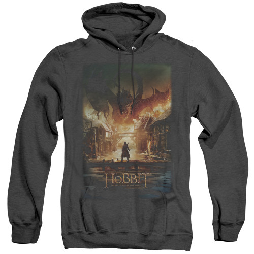 Image for The Hobbit Heather Hoodie - Smaug Poster