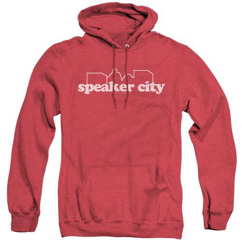 Image for Old School Heather Hoodie - Speaker City Logo
