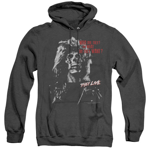 Image for They Live Heather Hoodie - They Want