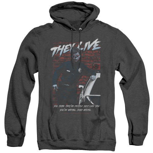 Image for They Live Heather Hoodie - Dead Wrong
