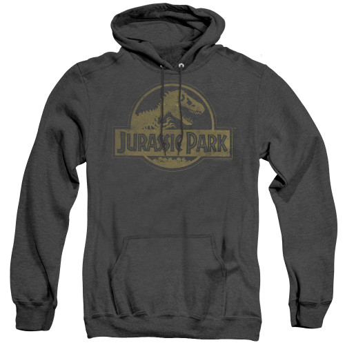 Image for Jurassic Park Heather Hoodie - Distressed Logo