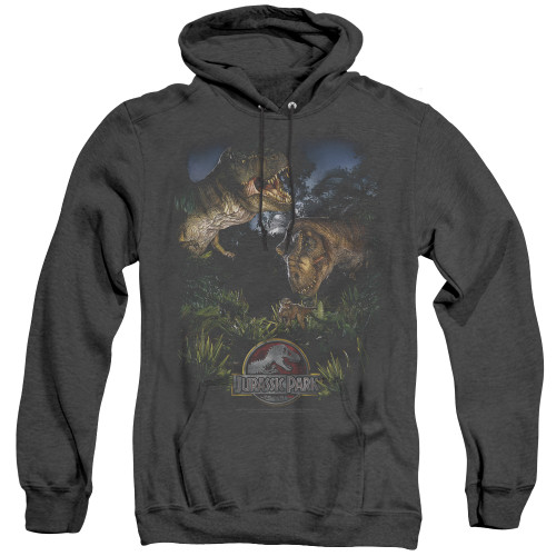 Image for Jurassic Park Heather Hoodie - Happy Family