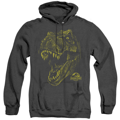 Image for Jurassic Park Heather Hoodie - Rex Mount