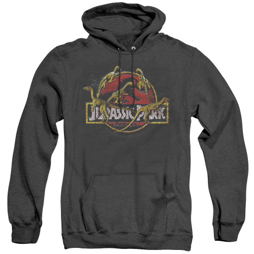 Image for Jurassic Park Heather Hoodie - Something Has Survived