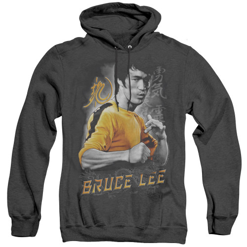 Image for Bruce Lee Heather Hoodie - Yellow Dragon
