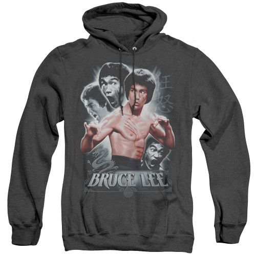 Image for Bruce Lee Heather Hoodie - Inner Fury