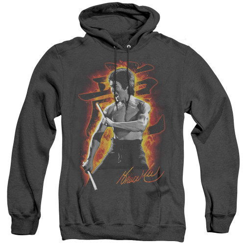 Image for Bruce Lee Heather Hoodie - Dragon Fire