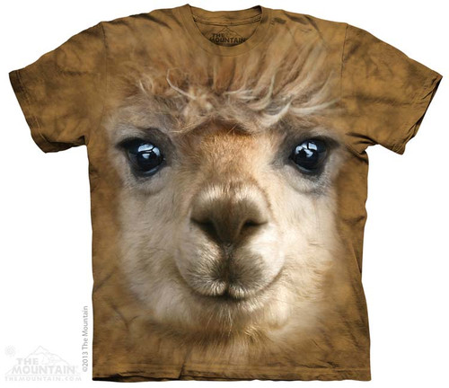 Image for The Mountain T-Shirt - Big Face Alpaca