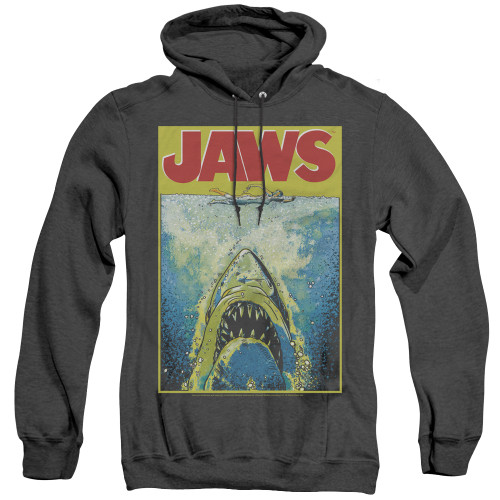 Image for Jaws Heather Hoodie - Bright Jaws