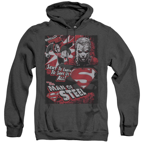 Image for Superman Heather Hoodie - Save Us All