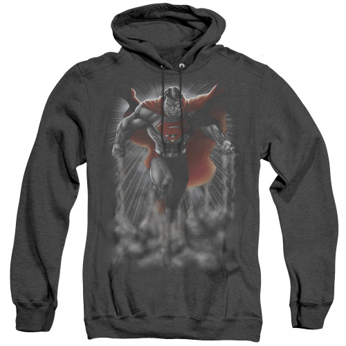 Image for Superman Heather Hoodie - Above The Clouds
