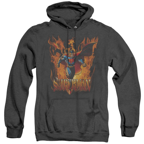 Image for Superman Heather Hoodie - Through The Fire