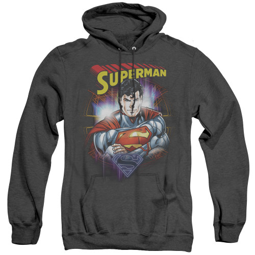 Image for Superman Heather Hoodie - Glam