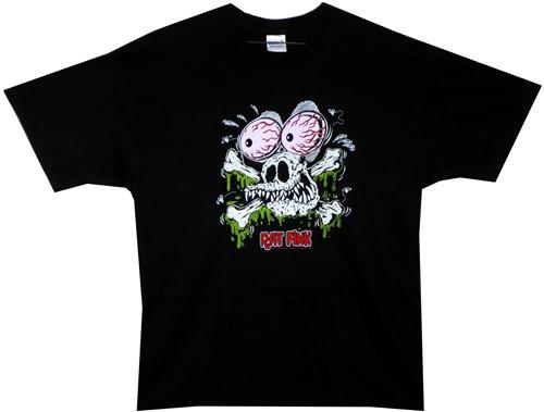 Image Closeup for Rat Fink Rat Skull T-Shirt