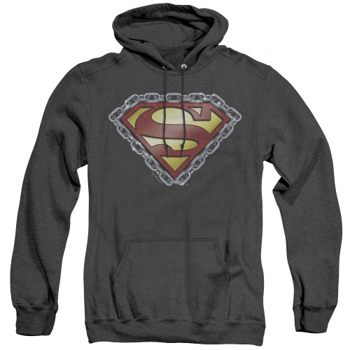 Image for Superman Heather Hoodie - Chained Shield
