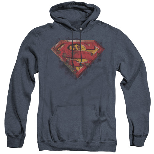 Image for Superman Heather Hoodie - Rusted Shield