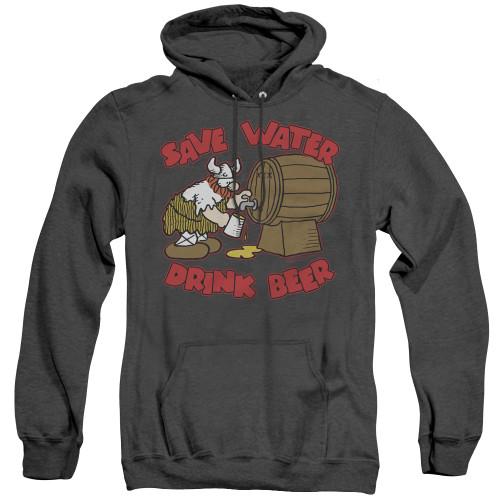 Image for Hagar The Horrible Heather Hoodie - Save Water Drink Beer