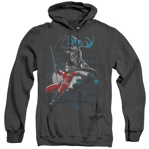 Image for Batman Heather Hoodie - Black And White