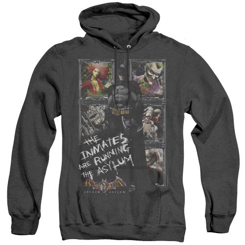 Image for Batman Arkham Asylum Heather Hoodie - Running The Asylum