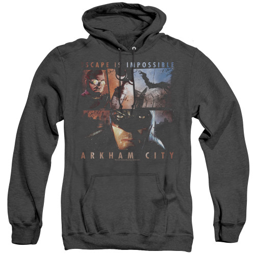 Image for Arkham City Heather Hoodie - Escape Is Impossible
