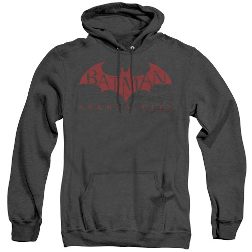 Image for Arkham City Heather Hoodie - Red Bat