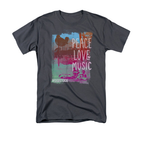 Image for Woodstock T-Shirt - Peace Love Music