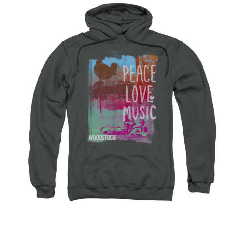 Image for Woodstock Hoodie - Peace Love Music