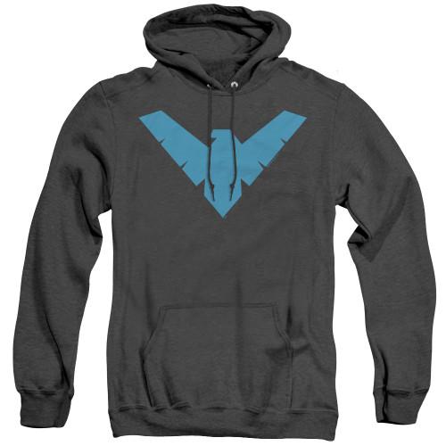 Image for Batman Heather Hoodie - Nightwing Symbol