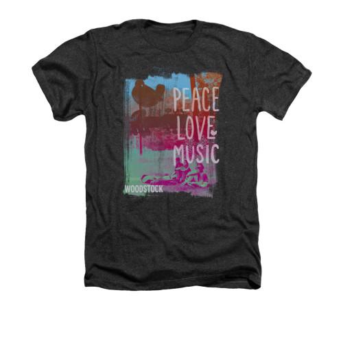 Woodstock Heather T-Shirt - Peace Love Music