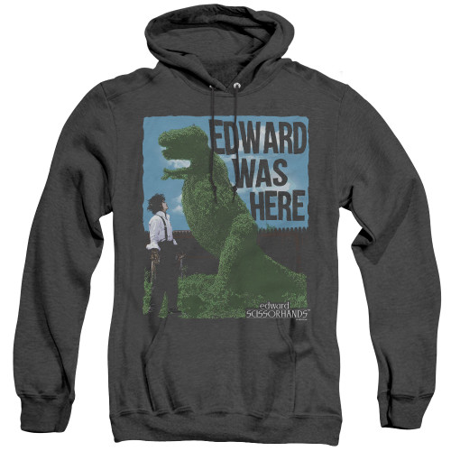Image for Edward Scissorhands Heather Hoodie - Edward Was Here