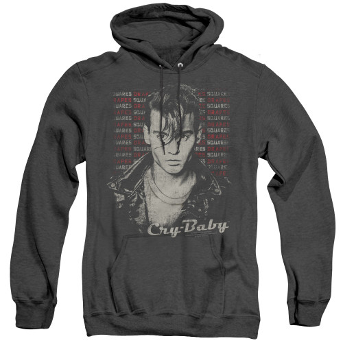 Image for Cry Baby Heather Hoodie - Drapes Squares