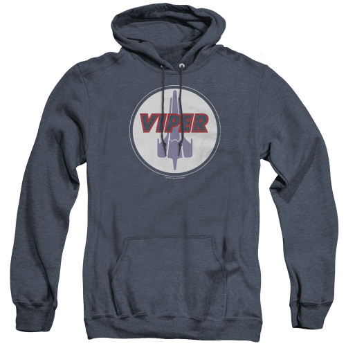 Image for Battlestar Galactica Heather Hoodie - Viper Badge